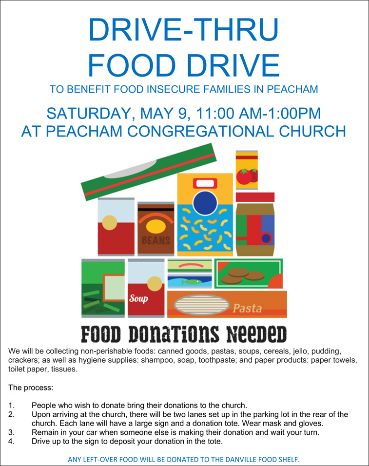 Food drive - Peacham, VT