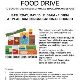 Food drive at Peacham Congregational Church